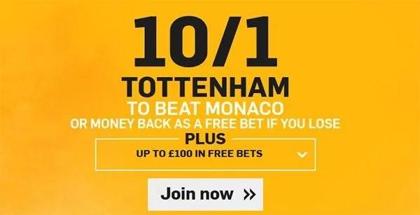 Tottenham vs Monaco Prediction and Bet