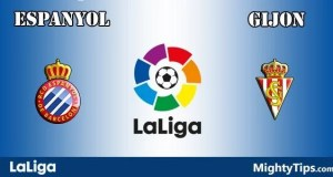 Espanyol vs Gijon Prediction and Betting Tips