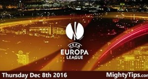 Europa League Predictions and Betting Tips 08.12.2016.
