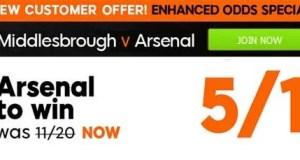 Middlesbrough vs Arsenal Prediction