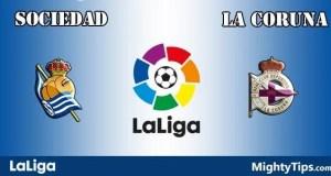 Sociedad vs La Coruna Prediction and Betting Tips
