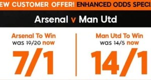 Arsenal vs Manchester United Prediction and Bet