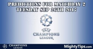 Champions League Tuesday Predictions MatchDay 2