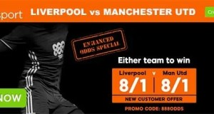 Liverpool vs Manchester United Bet and Enhanced Odd