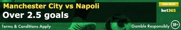 Manchester City vs Napoli Prediction and Bet