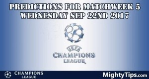 Champions League Wednesday Predictions Matchday 5
