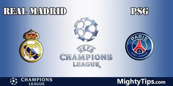 Real Madrid vs Paris SG Prediction Champions League
