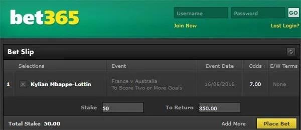 France vs Australia Bet