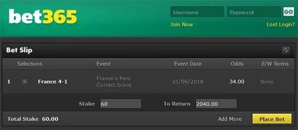 France vs Peru Prediction and Bet on Correct Score