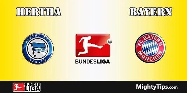 Hertha vs Bayern Prediction, Preview and Betting Tips