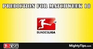Bundesliga Prediction and Betting Tips Matchweek 18