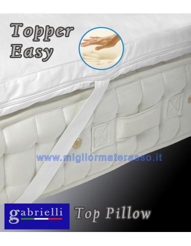 Il materasso ha una struttura portante interna composta da 6 strati: Topper Memory Foam