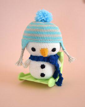 Bonhomme de neige au crochet - décoration de noel - amigurumi noel - StorylandAmis - Hiver - Boule de neige - Fait en France 2