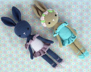Poupée Lapin Ballerine - Kikalite - Ballerine bleu - Amigurumi lapin - Ballerina Bunny Charlotte 2