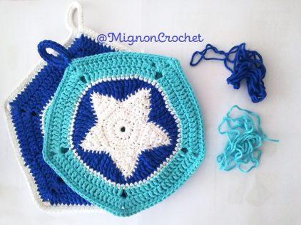 étoiles petite et grande bleu manique étoilée mignoncrochet