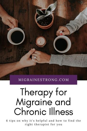 Why therapy is important when you struggle with chronic illness, like migraine. Here are 6 tips to find the right counselor and right therapy for you. #migraine #chronicillness #therapy #cbt