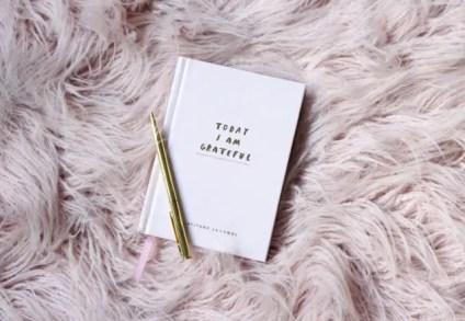a gratitude journal