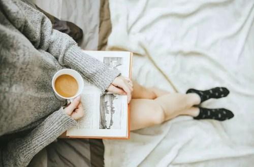 self-care reading a book