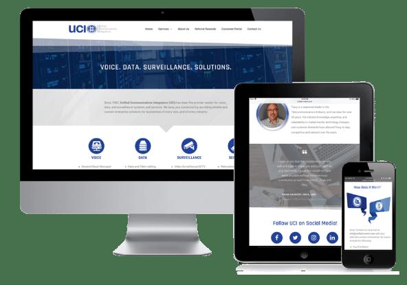 Migrate Design Website Design Screens UCI