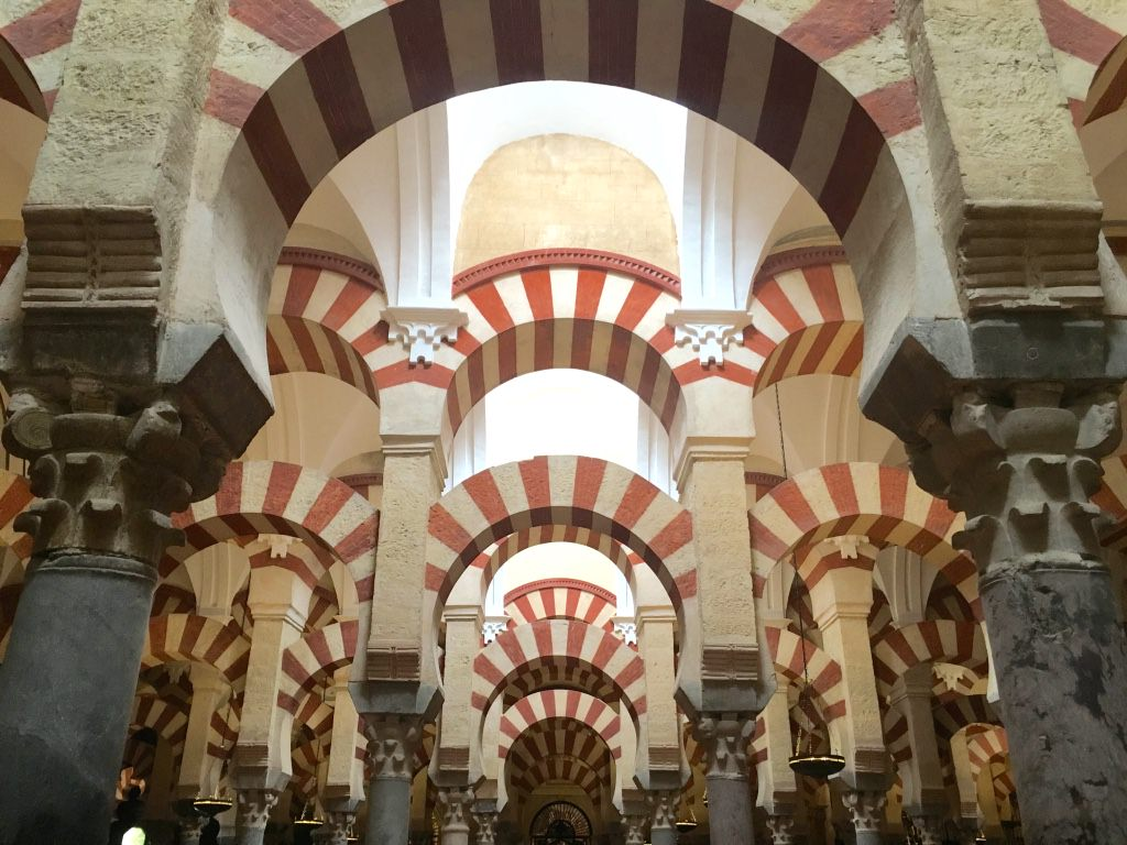Inside the Mezquita Cordoba Spain