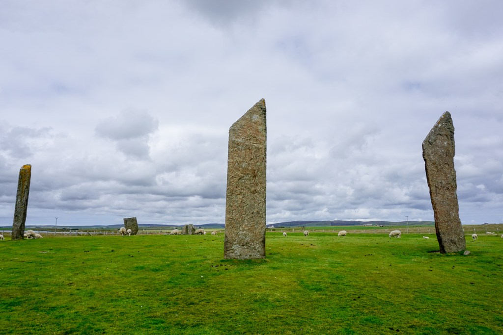 Standing Stones of Stenness, historical sites in Orkney, Scotland