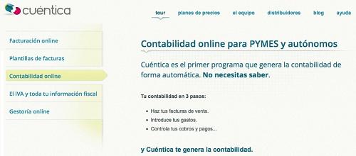 Cuentica.es gestoria online especializada en contable y fiscal
