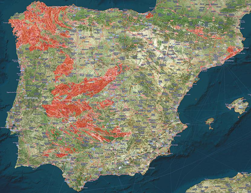 El Mapa Espanol Del Radiactivo Gas Radon Segunda Causa De Cancer