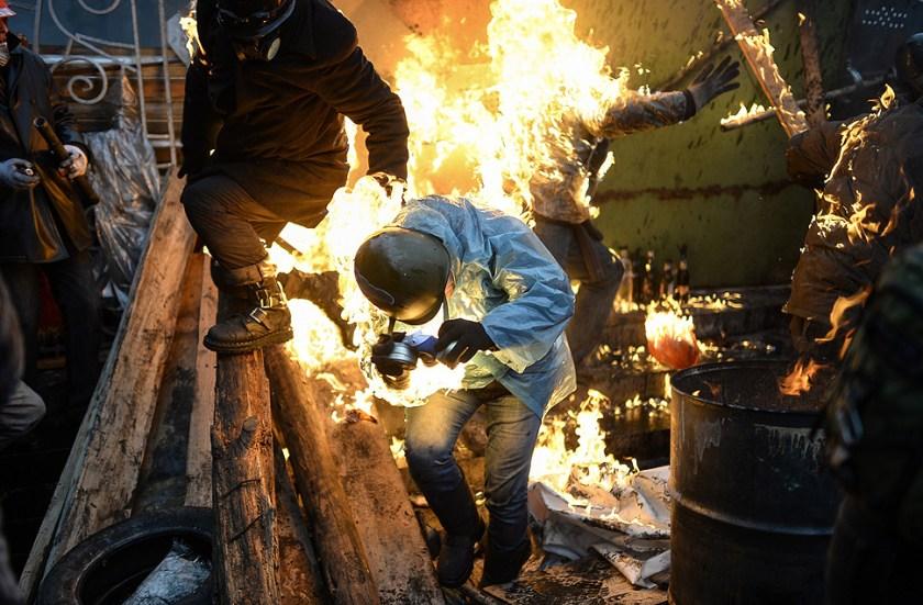 Impactantes fotografías de las revueltas en Ucrania