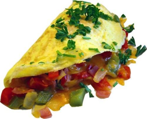 Omelette de atún a colores