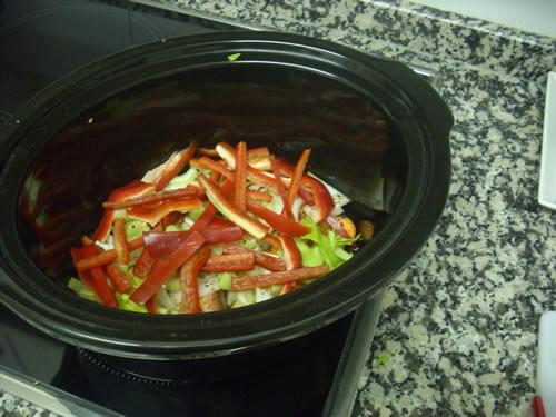 Lomo de cerdo con verduras en Crock-Pot