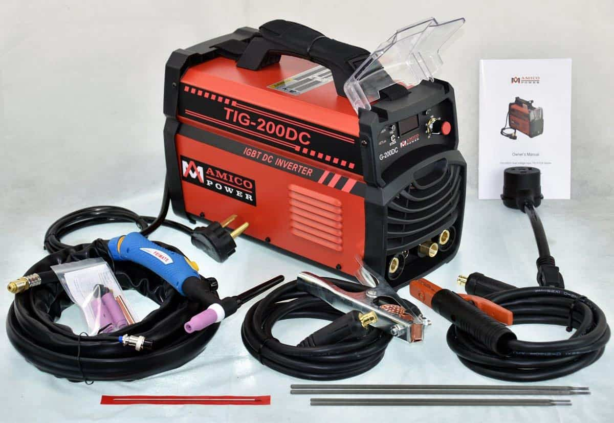 200 Amp Tig Torch Arc Stick Dc Inverter Dual Voltage Igbt Welding Power 110 220 Volts 5060hz 20 Amps