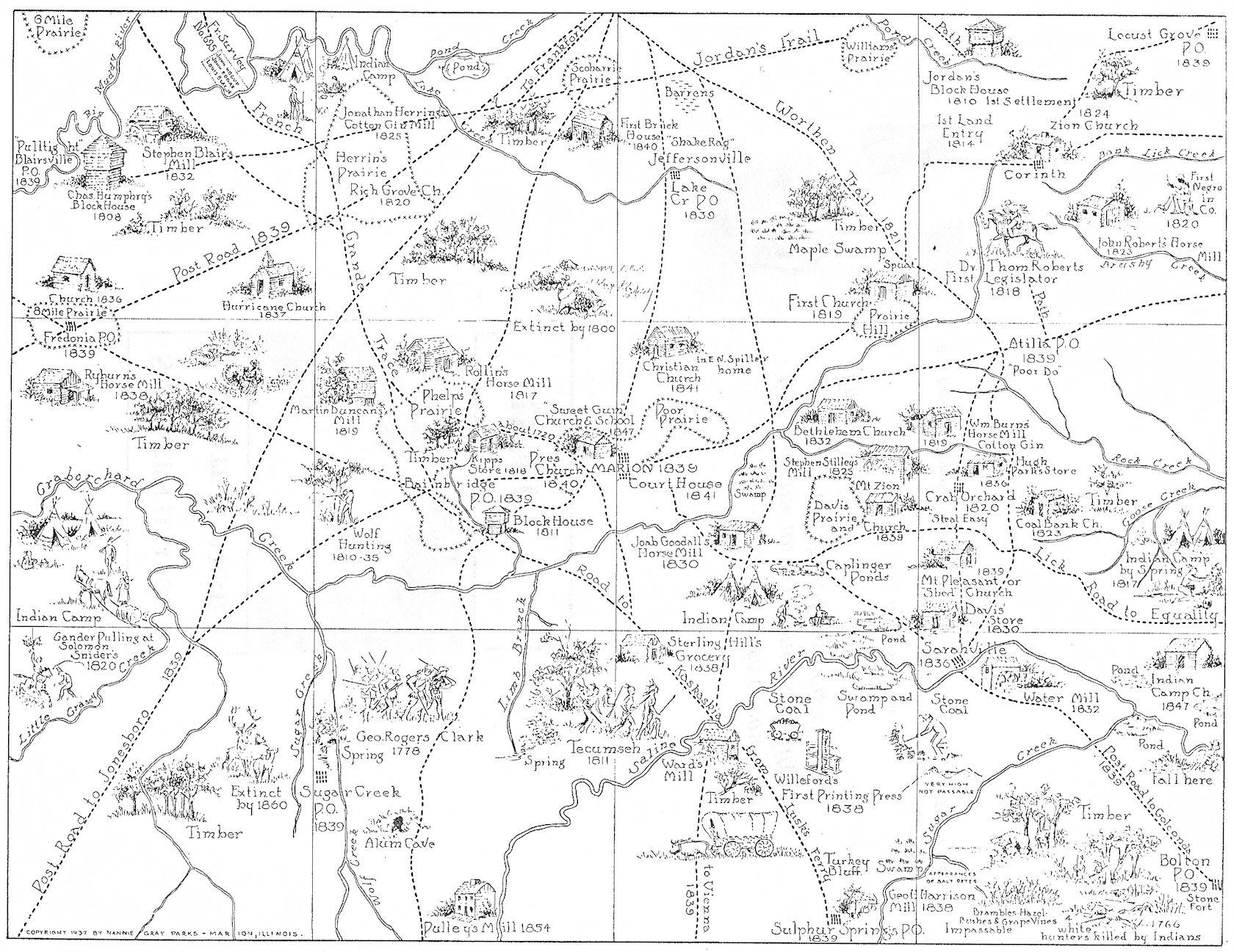 Nannie Grey Centennial Map