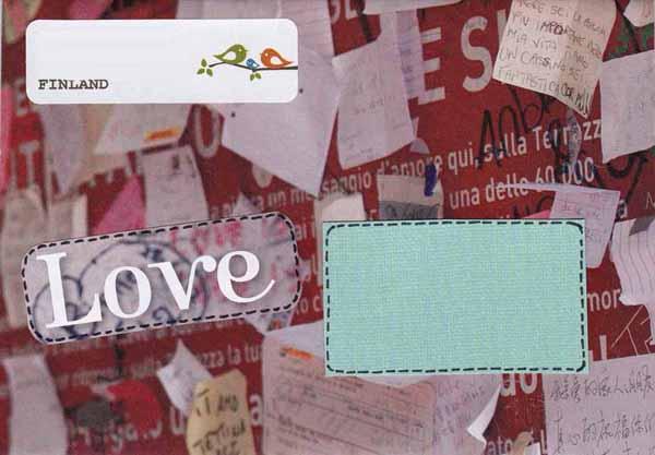 Söpö rakkauskirjeaiheinen kuori.