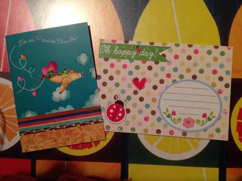 Kortti ja kuori. Tää on niitä mun ite koristelemia kuoria. :)