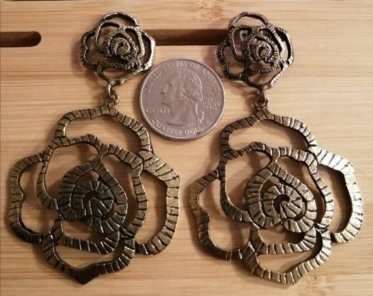 Rose Earrings - Vintage