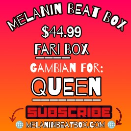Melanin Beat Box is a monthly subscription service sourced by indie black creatives and black owned businesses only.