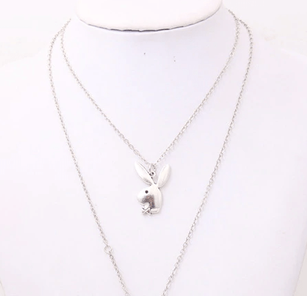 Playboy Necklace Silver