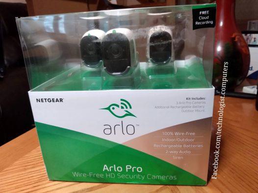 Arlo 3 Camera system with Siren & 2- way Audio