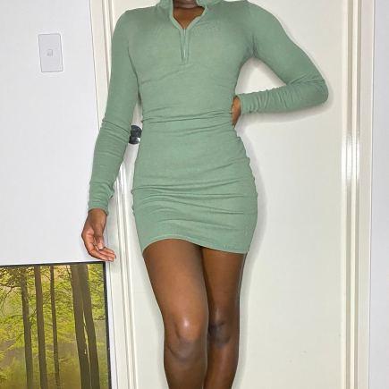 Lisa Ribbed Bodycon Dress