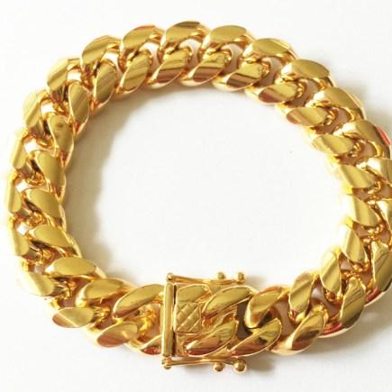 stainless steel anklet bracelet unisex gold