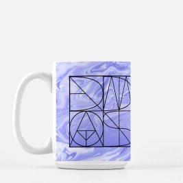 "Material: 100% White Ceramic Size: 15 Fluid oz.; 4.62"" (H) x 3.37"" (W) Care: Dishwasher + Microwave Safe Étoile violette Coffee Mug"