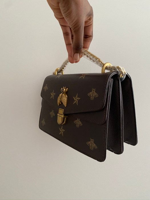 Coffee Brown Ari Patterned Bag