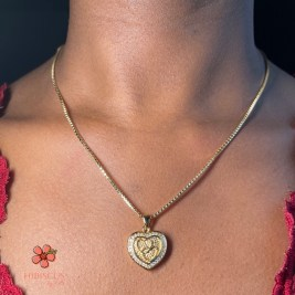 'Aphrodite' Necklace - Hibiscus by Elle Gold-filled necklace with beautiful gold-filled heart pendant. Perfect Valentine's Day Gift. Valentine's day 2021. Valentines. Box chain necklace.