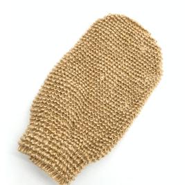 Exfoliating hemp glove