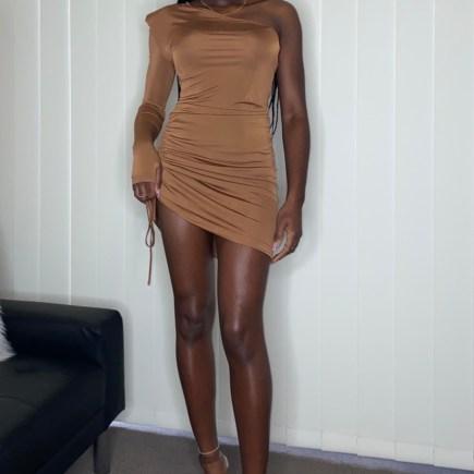 Amber V Choc Dress