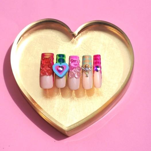 Kawaii Croc Print Press On Nails