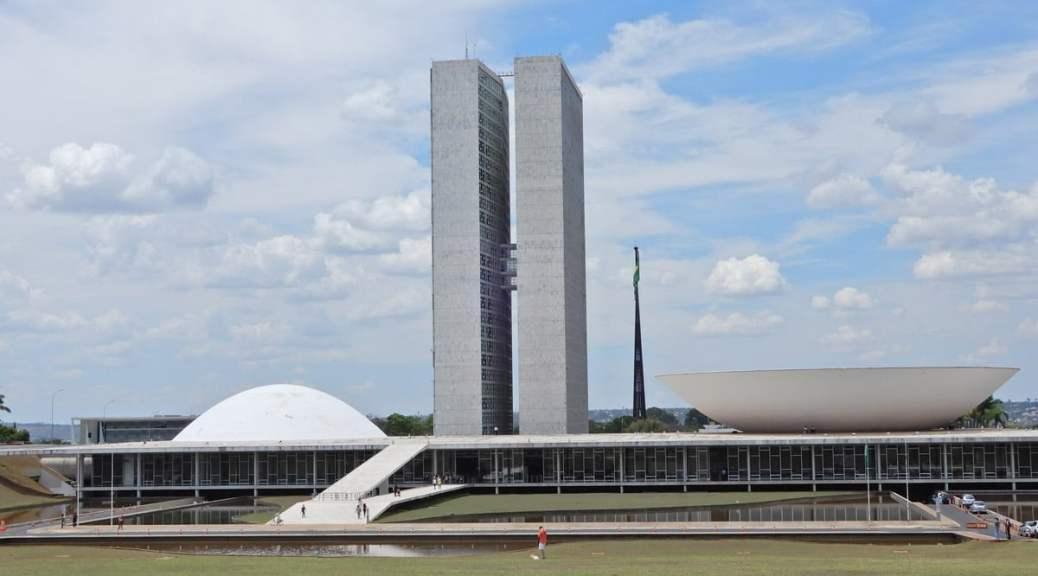 Foto van het Nationaal congres - Congresso Nacional in de Braziliaanse hoofdstad Brasilia