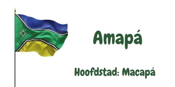 Vlag van de Braziliaanse deelstaat Amapá met als hoofdstad Macapá