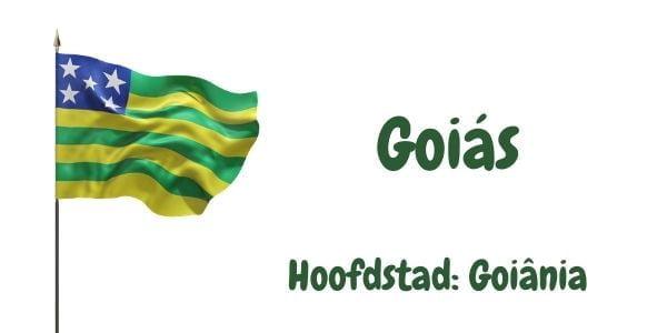Vlag van de Braziliaanse deelstaat Goiás met als hoofdstad Goiânia
