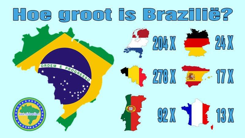 Mijnbrazilie-Brazilië-Hoe groot is Brazilië?